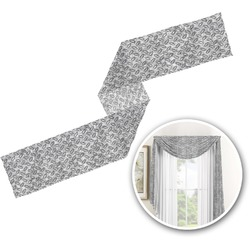 Diamond Plate Window Sheer Scarf Valance (Personalized)
