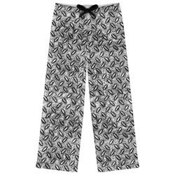 Diamond Plate Womens Pajama Pants (Personalized)