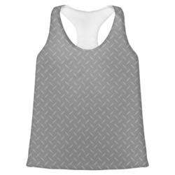 Diamond Plate Womens Racerback Tank Top (Personalized)