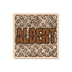 Diamond Plate Genuine Maple or Cherry Wood Sticker (Personalized)