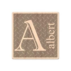 Diamond Plate Genuine Wood Sticker (Personalized)