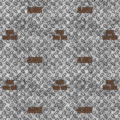 Diamond Plate Wrapping Paper (Personalized)