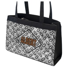Diamond Plate Zippered Everyday Tote (Personalized)