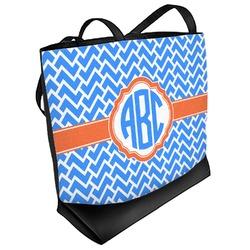 Zigzag Beach Tote Bag (Personalized)