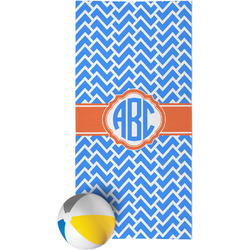 Zigzag Beach Towel (Personalized)