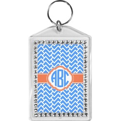 Zigzag Bling Keychain (Personalized)