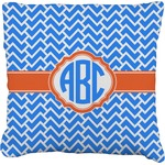 Zigzag Faux-Linen Throw Pillow (Personalized)