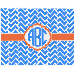 Zigzag Woven Fabric Placemat - Twill w/ Monogram