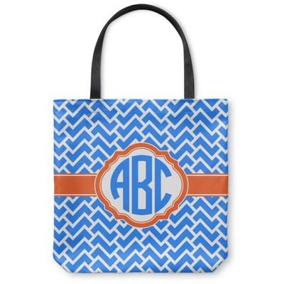 Zigzag Canvas Tote Bag (Personalized)