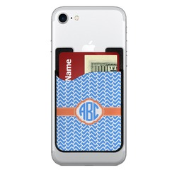 Zigzag 2-in-1 Cell Phone Credit Card Holder & Screen Cleaner (Personalized)