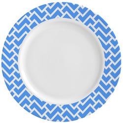 Zigzag Ceramic Dinner Plates (Set of 4) (Personalized)