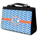 Zigzag Classic Tote Purse w/ Leather Trim (Personalized)