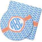 Zigzag Rubber Backed Coaster (Personalized)