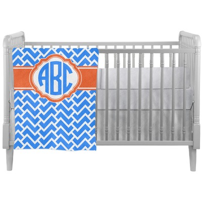 Zigzag Crib Comforter / Quilt (Personalized)