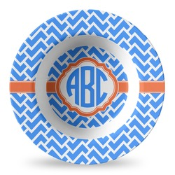 Zigzag Plastic Bowl - Microwave Safe - Composite Polymer (Personalized)
