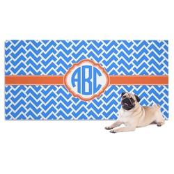 Zigzag Dog Towel (Personalized)