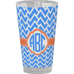 Zigzag Drinking / Pint Glass (Personalized)