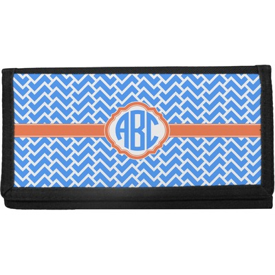 Zigzag Canvas Checkbook Cover (Personalized)