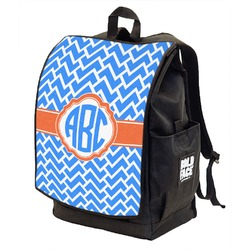 Zigzag Backpack w/ Front Flap  (Personalized)