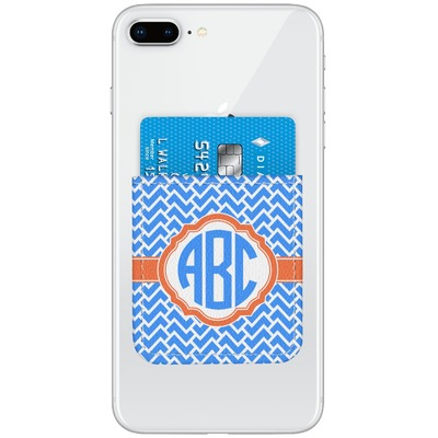 Zigzag Genuine Leather Adhesive Phone Wallet (Personalized)
