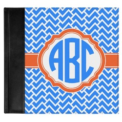 Zigzag Genuine Leather Baby Memory Book (Personalized)