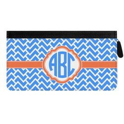 Zigzag Genuine Leather Ladies Zippered Wallet (Personalized)