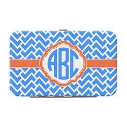 Zigzag Genuine Leather Small Framed Wallet (Personalized)