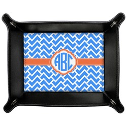 Zigzag Genuine Leather Valet Tray (Personalized)