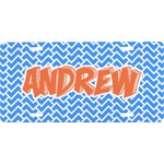 Zigzag Front License Plate (Personalized)