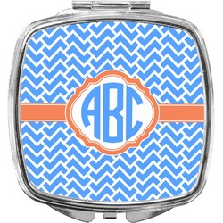 Zigzag Compact Makeup Mirror (Personalized)