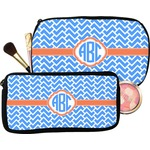 Zigzag Makeup / Cosmetic Bag (Personalized)