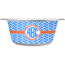Zigzag Stainless Steel Pet Bowl (Personalized)