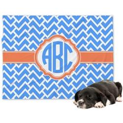 Zigzag Minky Dog Blanket (Personalized)