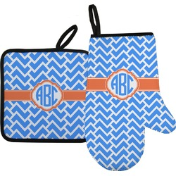 Zigzag Oven Mitt & Pot Holder (Personalized)