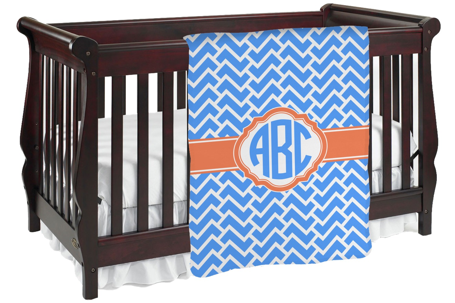 a88a4101e2b5 Zigzag Baby Blanket (Personalized) - YouCustomizeIt