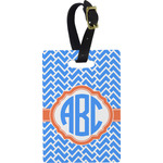 Zigzag Rectangular Luggage Tag (Personalized)