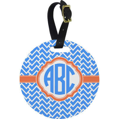 Zigzag Round Luggage Tag (Personalized)