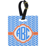 Zigzag Square Luggage Tag (Personalized)