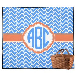 Zigzag Outdoor Picnic Blanket (Personalized)
