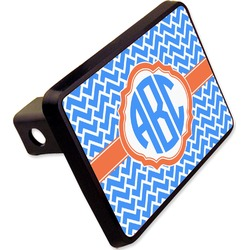 """Zigzag Rectangular Trailer Hitch Cover - 2"""" (Personalized)"""