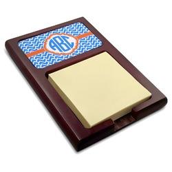 Zigzag Red Mahogany Sticky Note Holder (Personalized)
