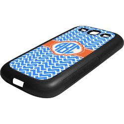 Zigzag Rubber Samsung Galaxy 3 Phone Case (Personalized)