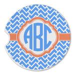 Zigzag Sandstone Car Coasters (Personalized)