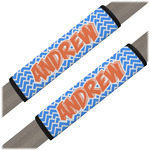 Zigzag Seat Belt Covers (Set of 2) (Personalized)