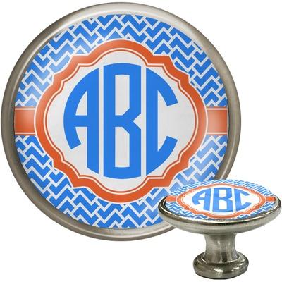 Zigzag Cabinet Knob (Silver) (Personalized)
