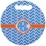 Zigzag Stadium Cushion (Round) (Personalized)