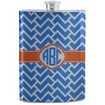 Zigzag Stainless Steel Flask (Personalized)