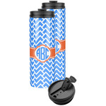 Zigzag Stainless Steel Skinny Tumbler (Personalized)