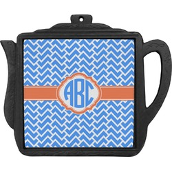 Zigzag Teapot Trivet (Personalized)