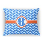 Zigzag Rectangular Throw Pillow Case (Personalized)
